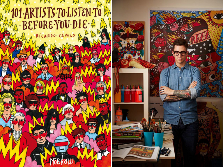 O livro e seu criador, Ricardo Cavolo
