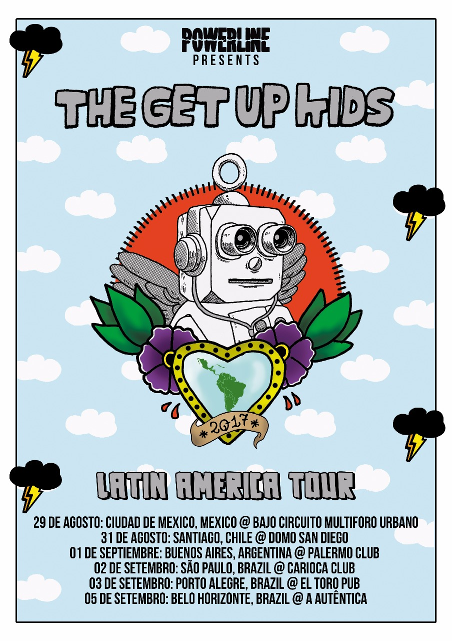 The Get Up Kids (cartaz da tour)-Powerline